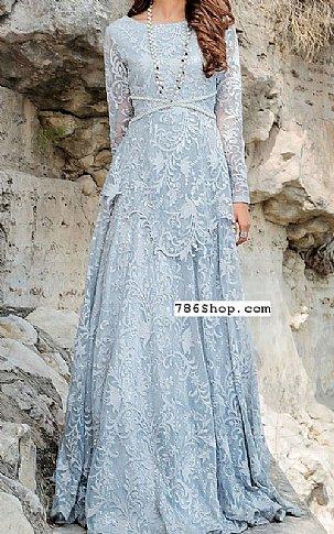 Baby Blue Net Suit | Pakistani Chiffon Dresses in USA