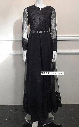 Black Net Suit | Pakistani Chiffon Dresses in USA