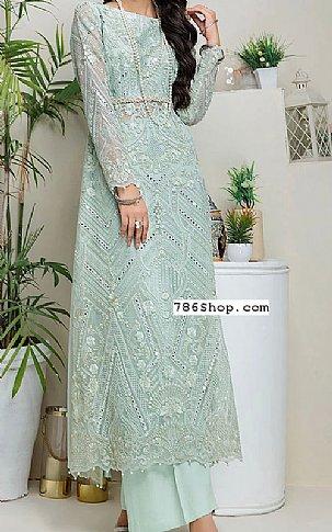 Sea Green Net Suit | Pakistani Chiffon Dresses in USA