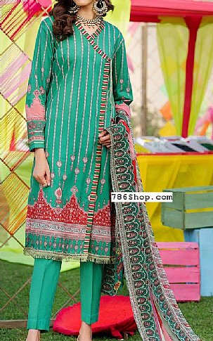 Teal Green Lawn Suit | Pakistani Lawn Suits in USA
