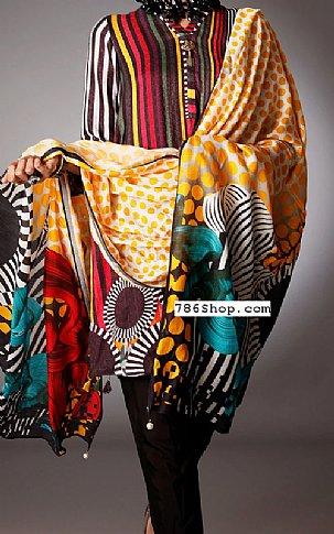 Black Silk Jacquard Suit | Pakistani Winter Clothes