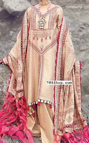 Peach Jacquard Suit   Pakistani Chiffon Dresses