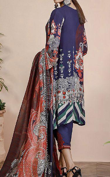 Navy Blue Grip Suit | Pakistani Chiffon Dresses