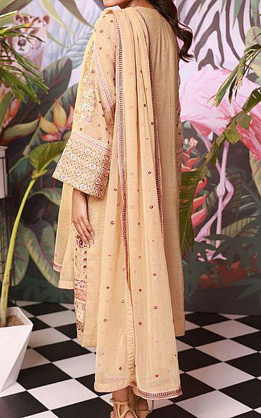 Ivory Cotton Net Suit | Pakistani Chiffon Dresses