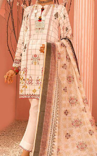 White Lawn Suit   Pakistani Lawn Suits