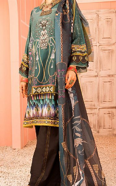 Teal Lawn Suit | Pakistani Lawn Suits