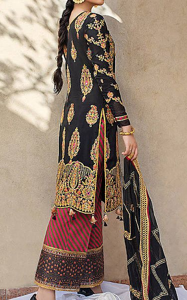 Black Silk Suit   Pakistani Chiffon Dresses
