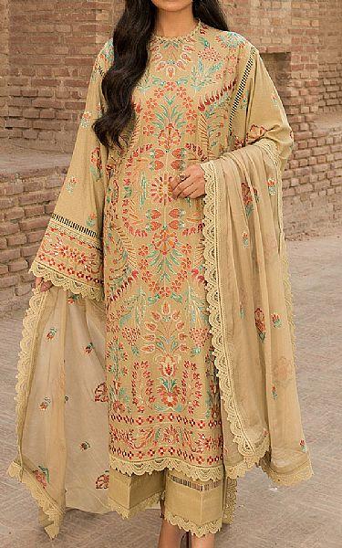 Sand Gold Karandi Suit   Pakistani Winter Clothes