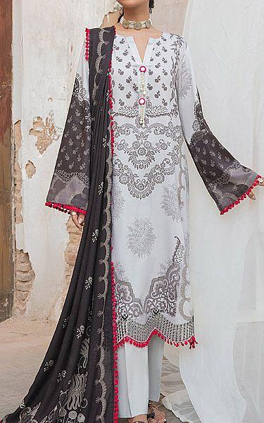 Light Grey Cotton Satin Suit | Pakistani Winter Clothes