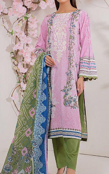 Mauve Lawn Suit   Pakistani Lawn Suits