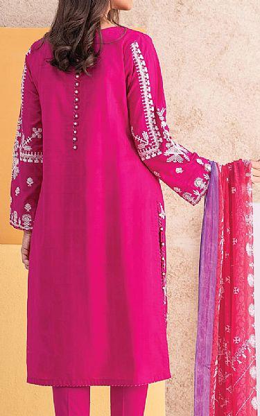 Socking Pink Jacquard Suit | Pakistani Winter Clothes
