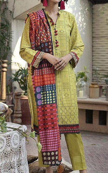 Light Green Khaddar Suit | Pakistani Winter Clothes