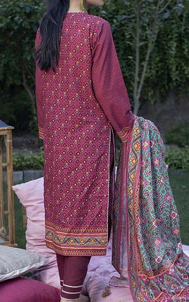 Plum Khaddar Suit   Pakistani Winter Clothes