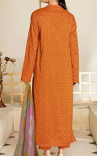 Safety Orange Cambric Suit   Pakistani Winter Clothes