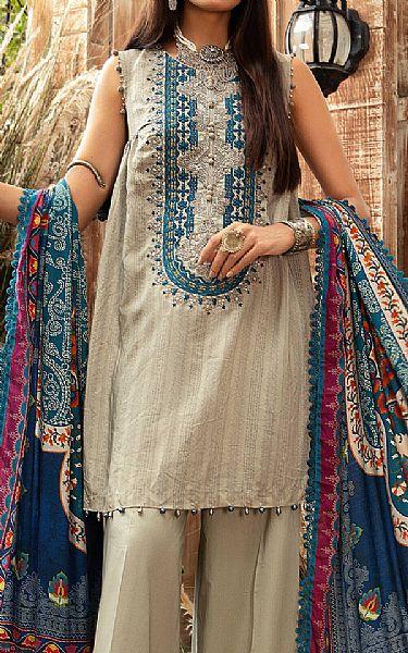 Ash White Linen Suit | Pakistani Winter Clothes