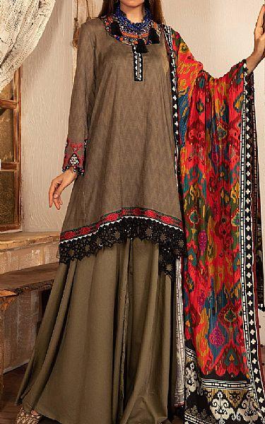 Tan Khaddar Suit   Pakistani Winter Clothes