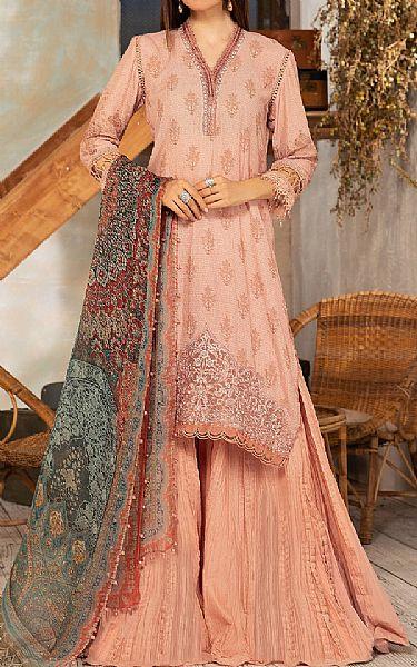 Peach Karandi Suit | Pakistani Winter Clothes