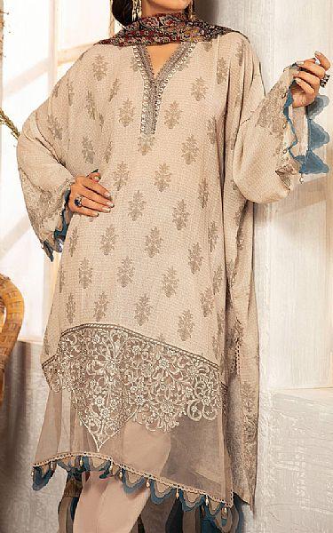 Ivory Karandi Suit | Pakistani Winter Clothes