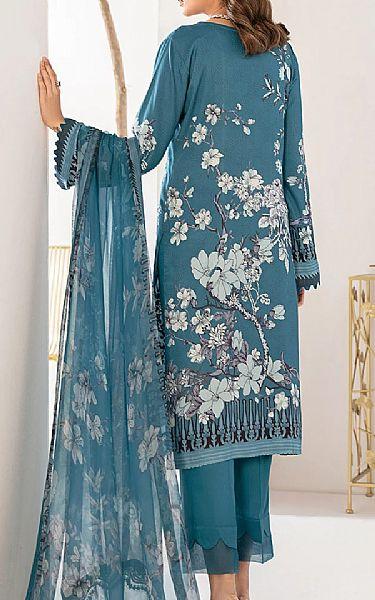 Denim Blue Viscose Suit | Pakistani Winter Clothes