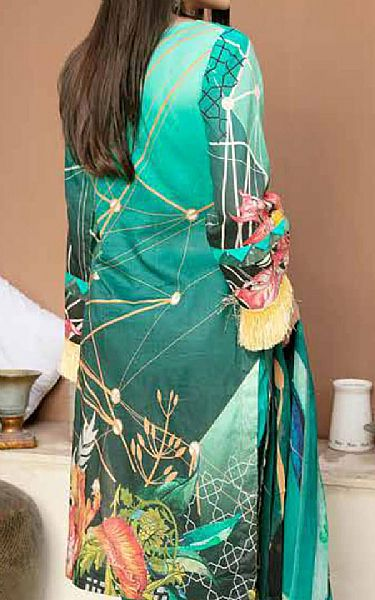 Sea Green/Teal Lawn Suit   Pakistani Lawn Suits