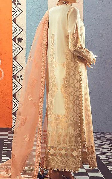 Ivory Jacquard Suit   Pakistani Chiffon Dresses