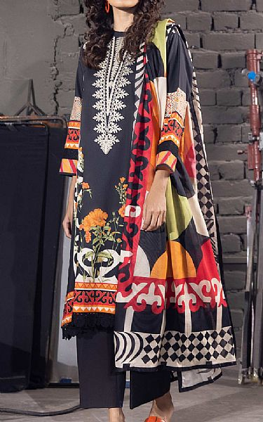 Black Cotton Suit | Pakistani Winter Clothes