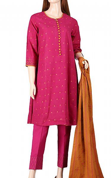 Magenta Jacquard Suit   Pakistani Lawn Suits