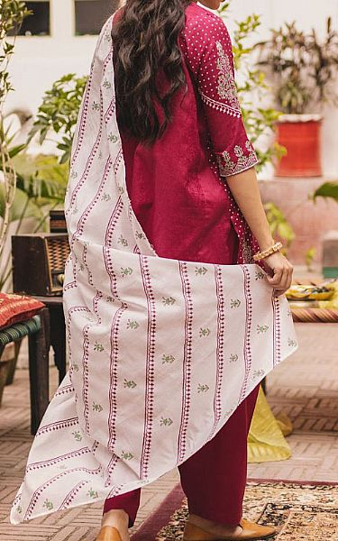 Magenta Lawn Suit (2 Pcs) | Pakistani Lawn Suits