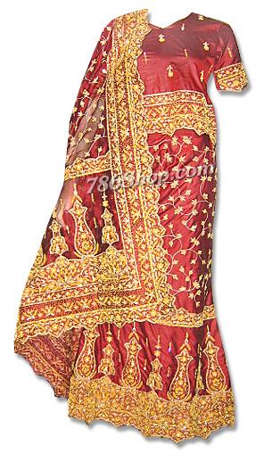 Katan Silk Lehnga | Pakistani Wedding Dresses in USA