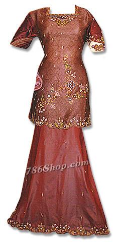 Maroon Organza Lehnga    Pakistani Wedding Dresses in USA