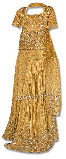Mustard Jamawar Lehnga | Pakistani Wedding Dresses in USA