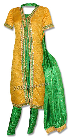 Yellow/Green Mehndi Suit