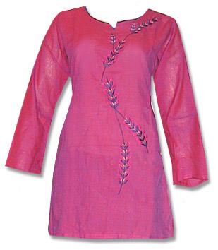 Maroon Khaddi Cotton Kurti    Pakistani Dresses in USA