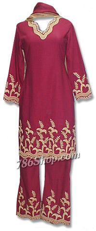 Maroon Georgette Trouser Suit | Pakistani Dresses in USA