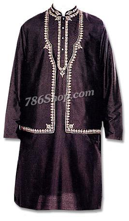 Black Stonewash Waistcoat Suit | Pakistani Dresses in USA