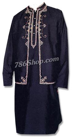 Raw Silk Waistcoat Suit | Pakistani Dresses in USA