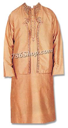 Raw Silk Waistcoat Suit   Pakistani Dresses in USA