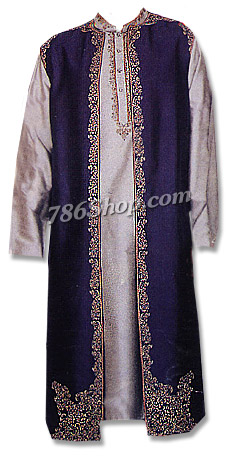 Raw Silk Gown Suit | Pakistani Dresses in USA