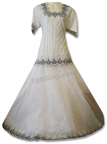 White Net Organza Lehnga | Pakistani Wedding Dresses in USA