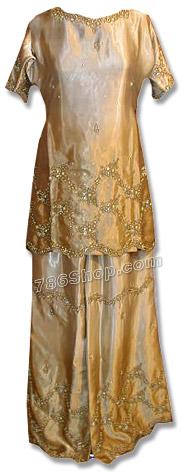 Pistachio Green Satin Silk Sharara | Pakistani Wedding Dresses