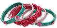Bangles- Sea Green/Pink/Red
