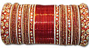 Metallic Bangles - Red