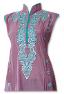 Tea Pink/Turquoise Cotton Lawn Suit - Pakistani Casual Clothes