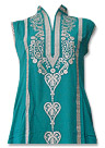Sea Green/Beige Cotton Lawn Suit - Pakistani shalwar kameez