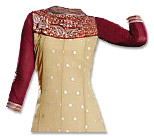 Cream/Maroon Chiffon Suit- Pakistani Casual Clothes
