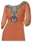 Rust Georgette Suit- Pakistani Casual Clothes