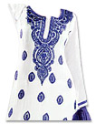 White/Blue Georgette Suit