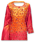 Red/Orange Schmooze Silk Suit