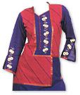 Red/Blue Cotton Suit- Pakistani Casual Clothes