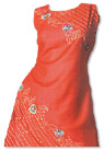 Red/Orange Georgette Suit- Pakistani Casual Clothes
